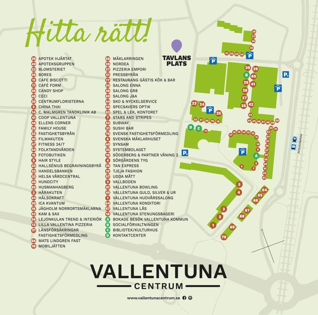 Vallentuna Centrum centrumtavla